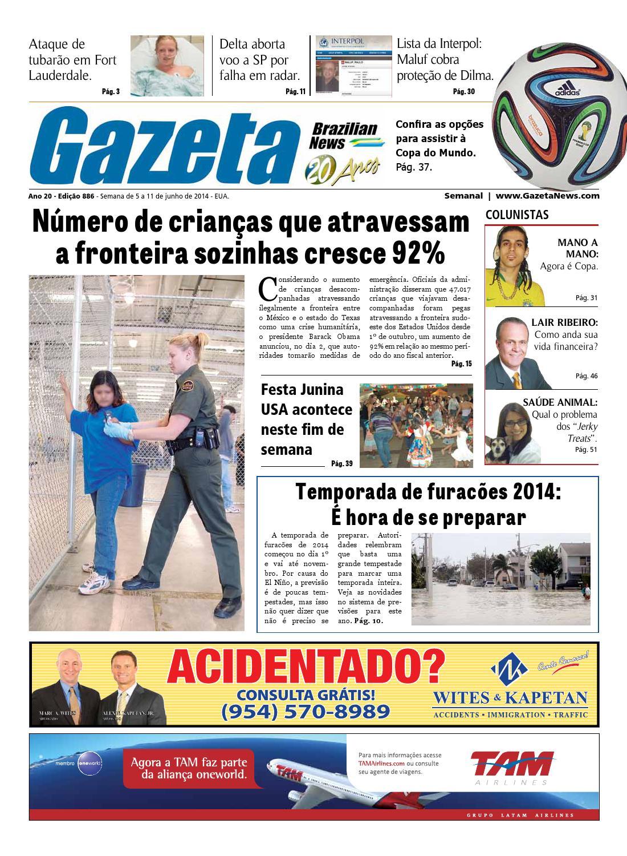 Edição 886 - De 5 a 11 de junho de 2014. by Gazeta Brazilian News - issuu d6627a79d2