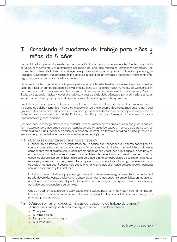 Guia cuaderno de trabajo 5 anos (1) by César Tafur Ruiz - issuu