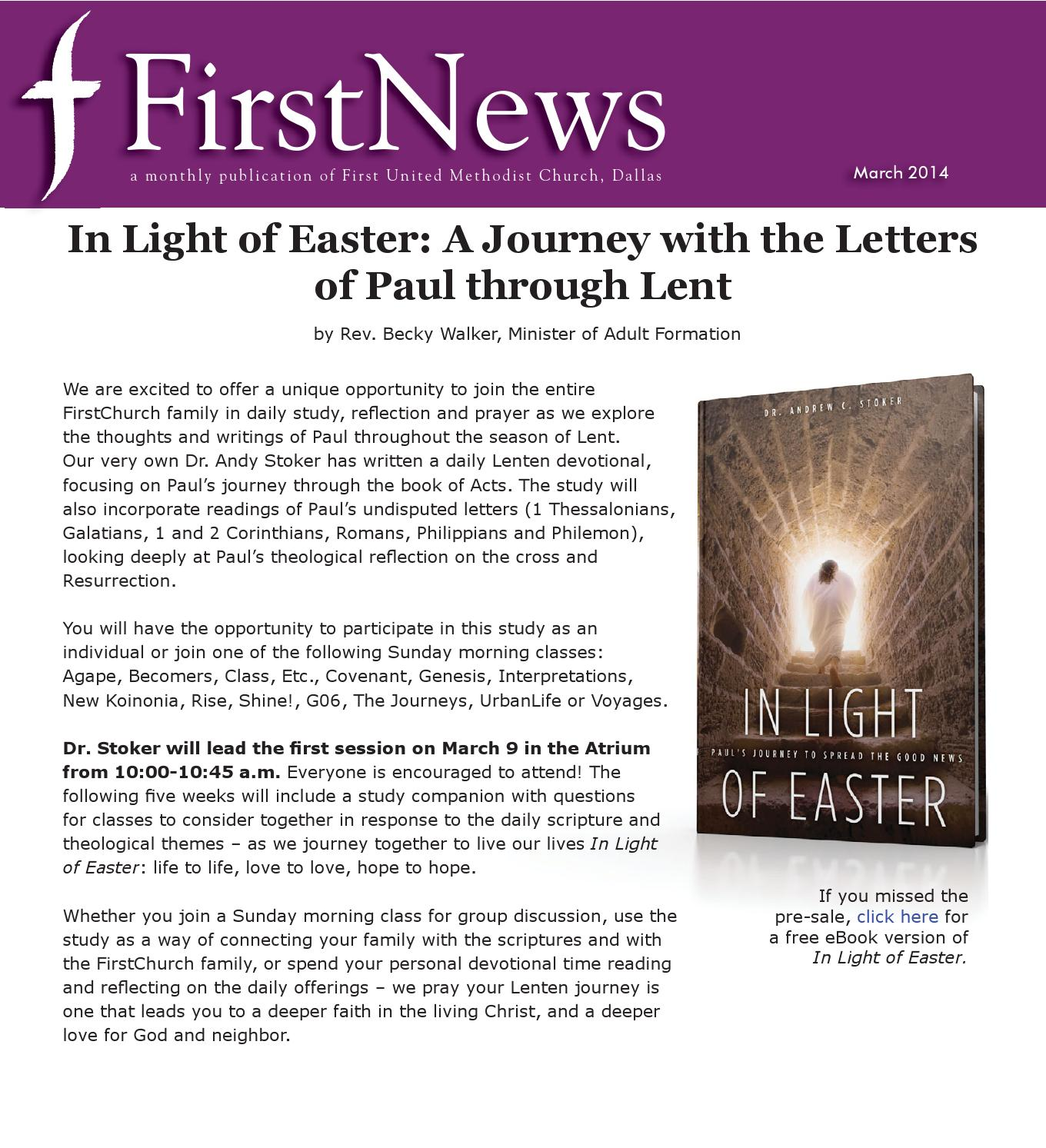 Mar14firstnews by first united methodist church of dallas issuu fandeluxe Images