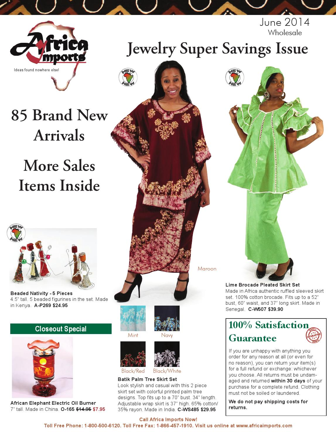 Africa Imports June 2014 flier by Africa Imports - issuu