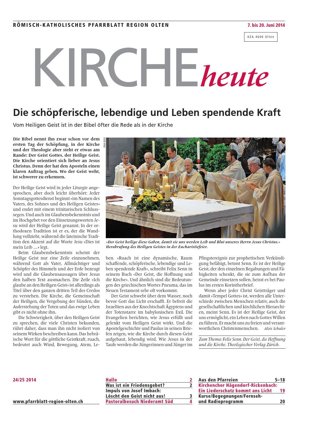 Rmisch-katholisches Pfarrblatt Region Olten 35/2013 by
