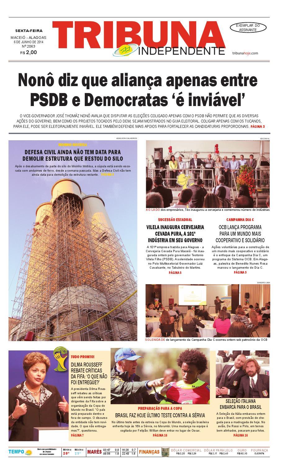 3a197e391be44 Edição número 2063 - 06 de junho de 2014 by Tribuna Hoje - issuu