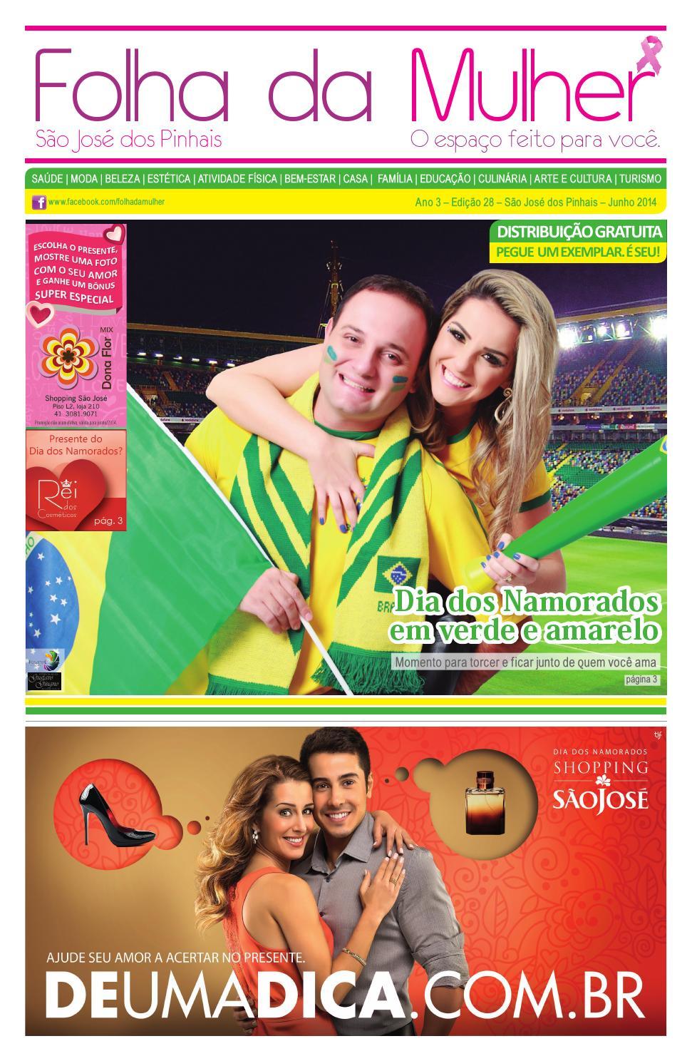 81d23247880f7 Folha da Mulher São José dos Pinhais - 28ª Edição - junho 2014 by Folha da  Mulher - issuu
