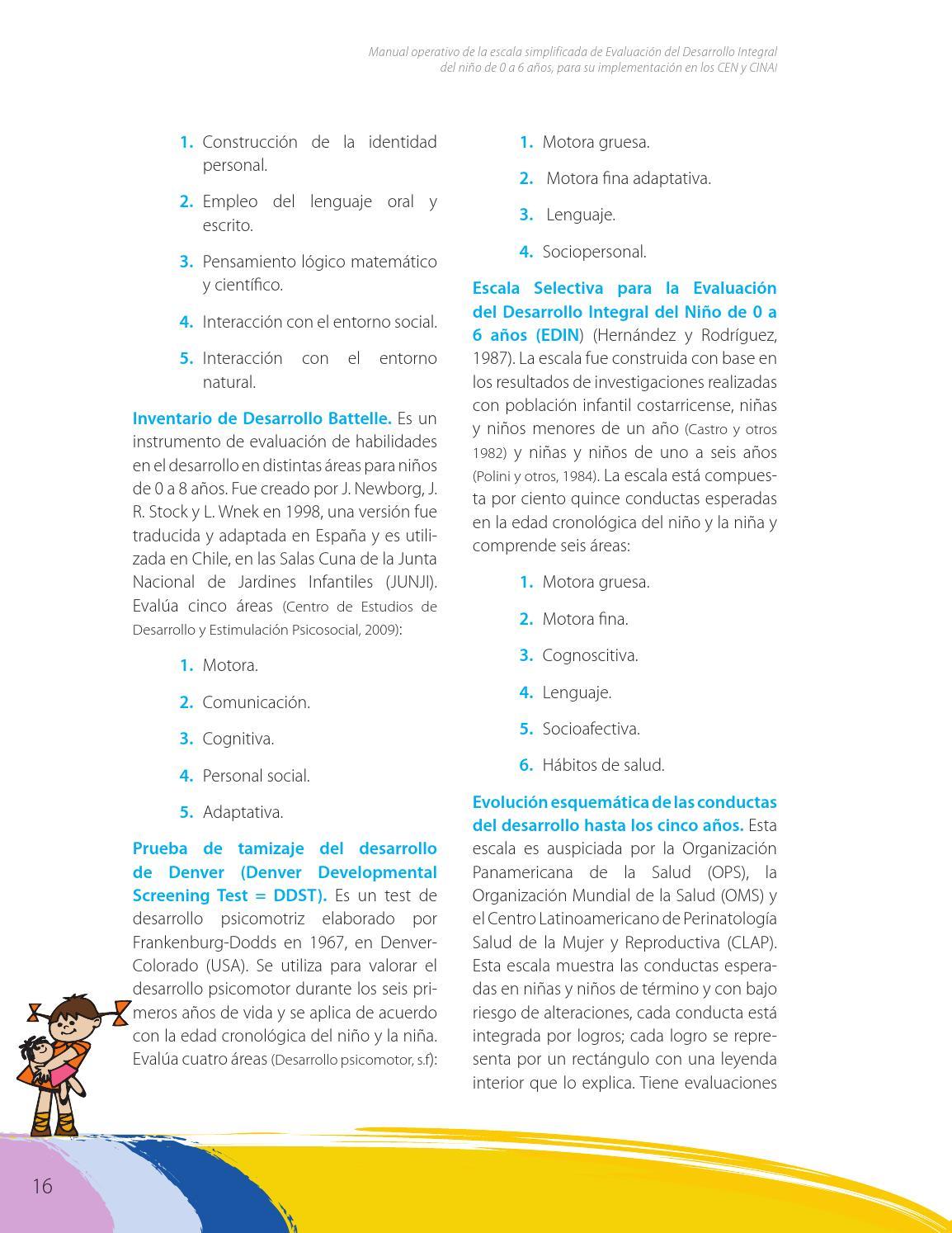 escala evaluacion desarrollo psicomotor manual