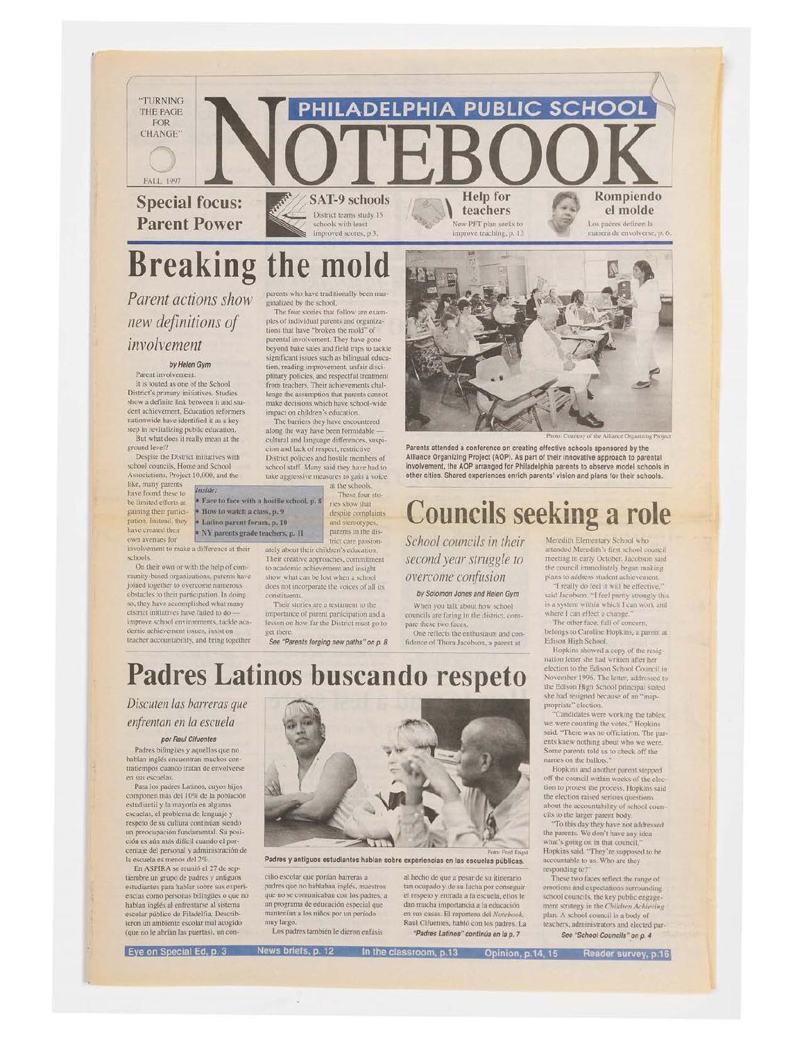 Fall 1997 by Philadelphia Public School Notebook - issuu