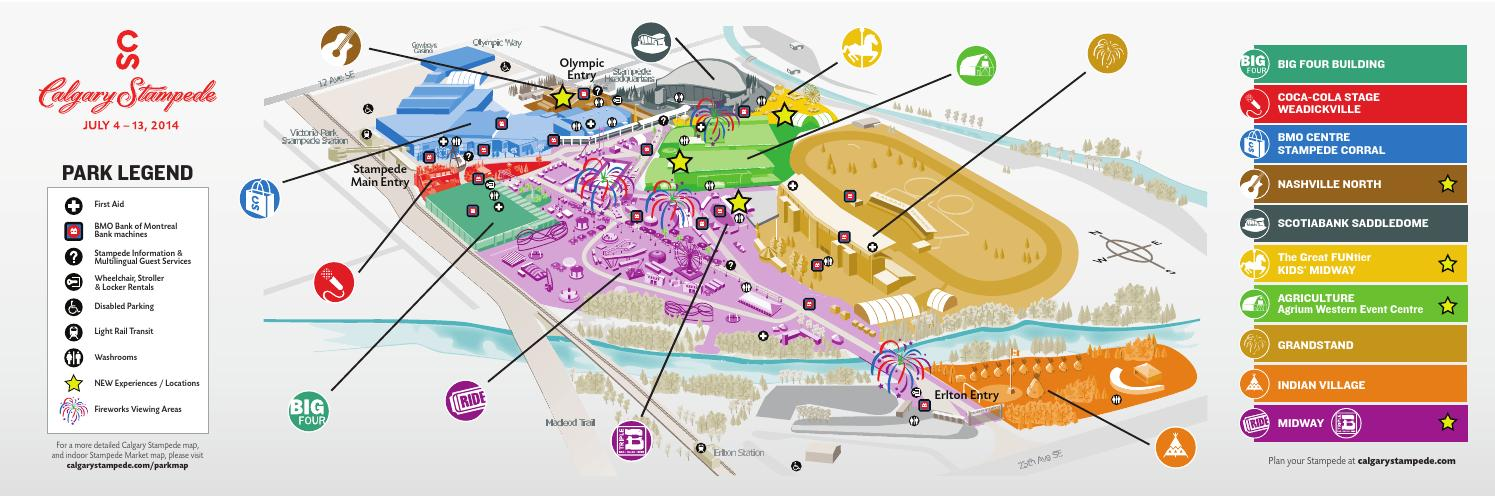 2014 Calgary Stampede Planner Map by nonfiction studios - issuu
