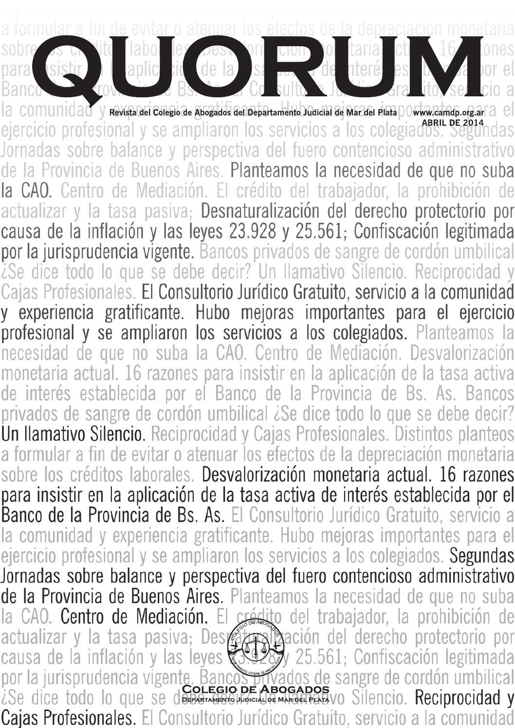 Revista CAMDP Quorum 2014 by omar can - issuu 3d999b1cbf8c