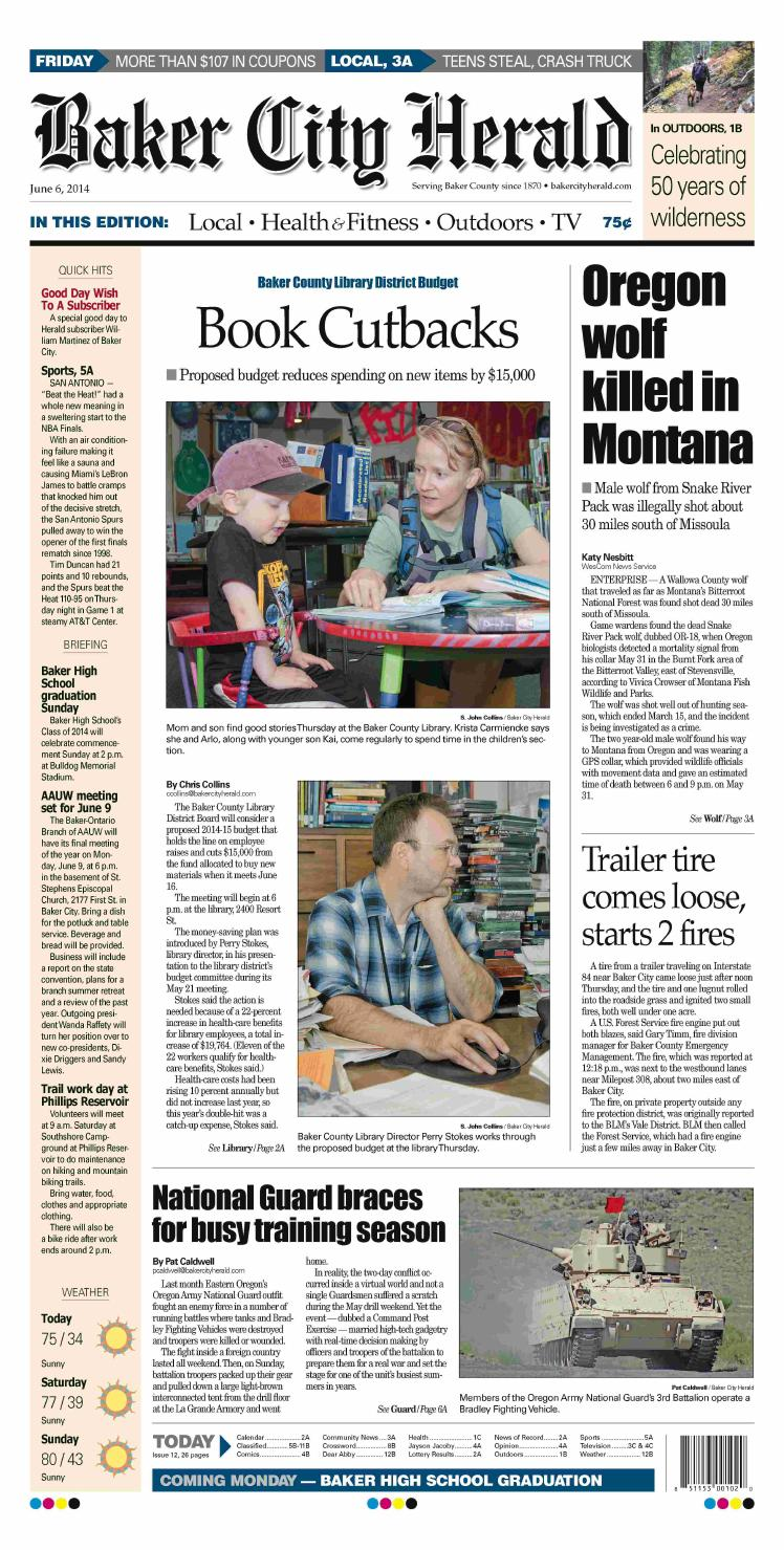 Baker City Herald Daily Paper 06-06-14 by NorthEast Oregon News - issuu c793a142015