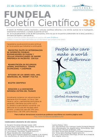 e8d39c02c8 21 de Junio de 2011 DÌA MUNDIAL DE LA ELA. FUNDELA Boletín Científico ...