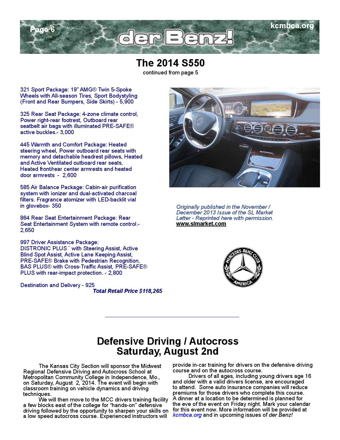 MBCA KC - der Benz Newsletter June/July 2014 by John Ryan - issuu