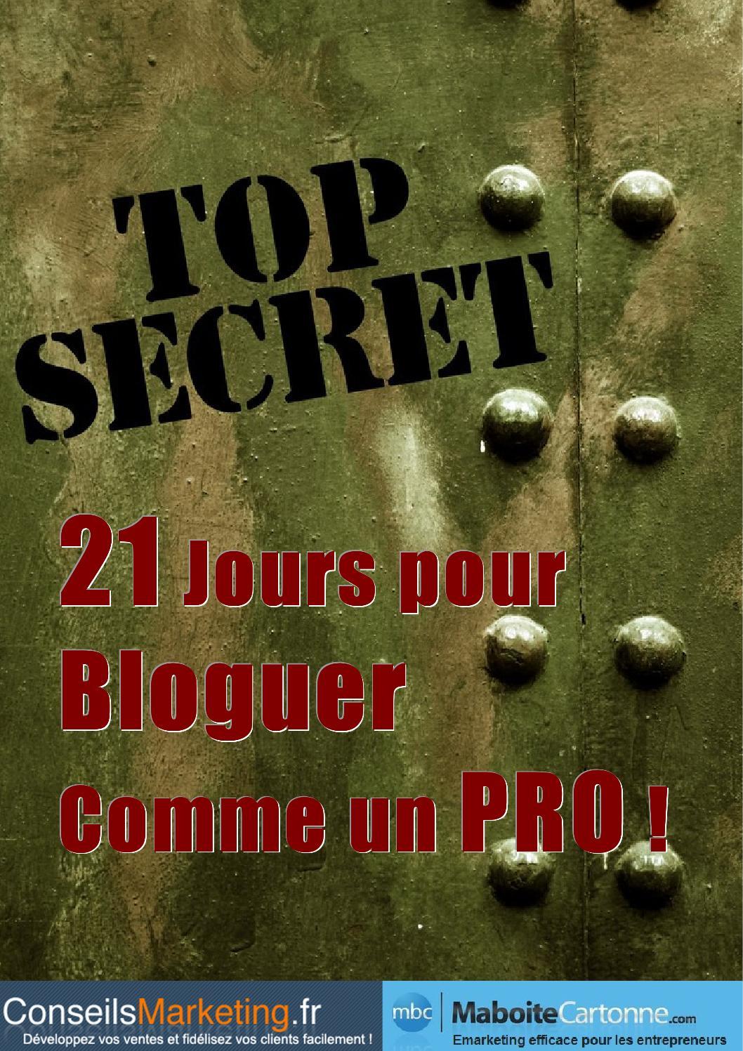 Ebook Gratuit 21 Jours Pour Bloguer Comme Un Pro By