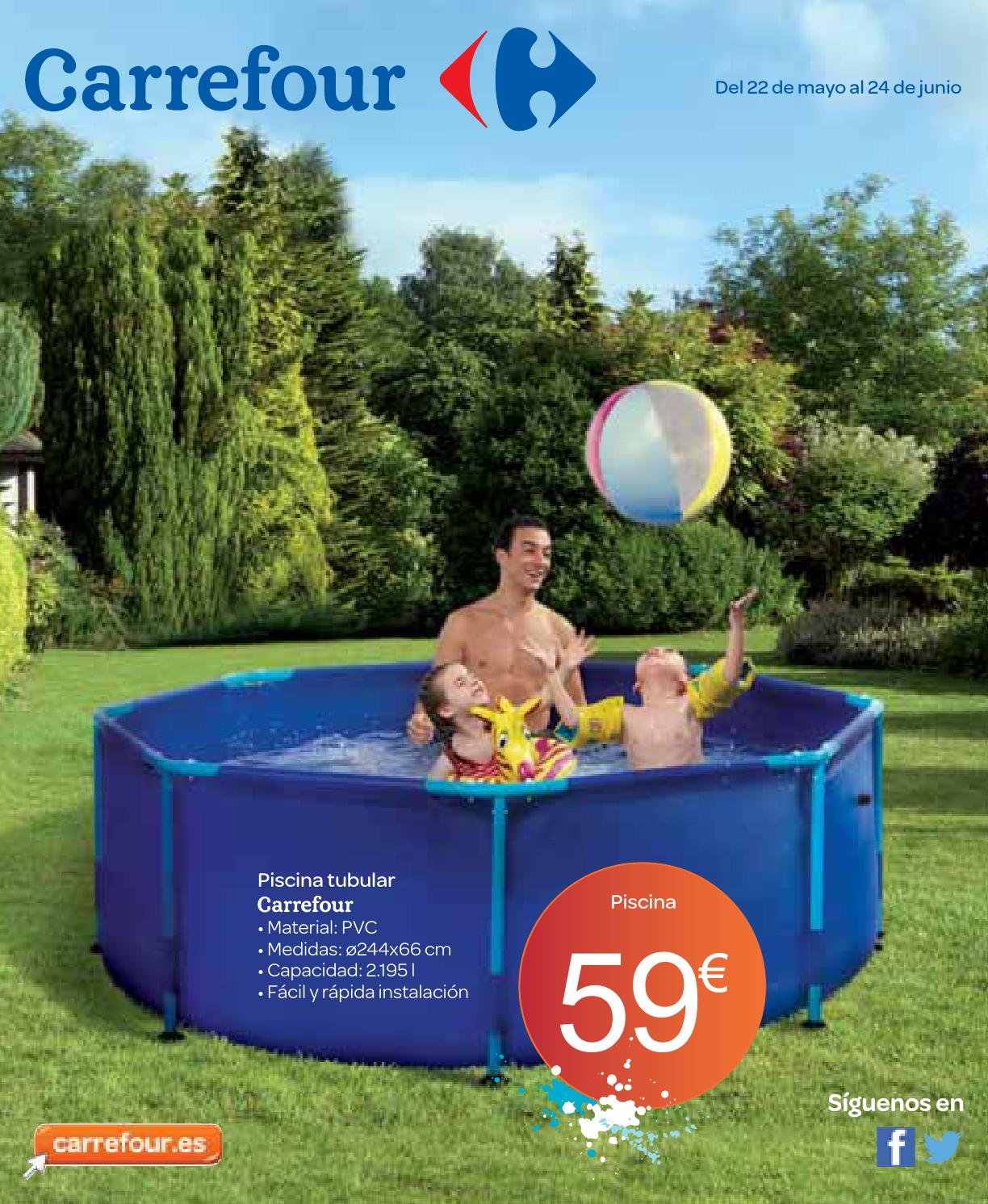Piscina desmontable en carrefour for Piscinas hipercor catalogo