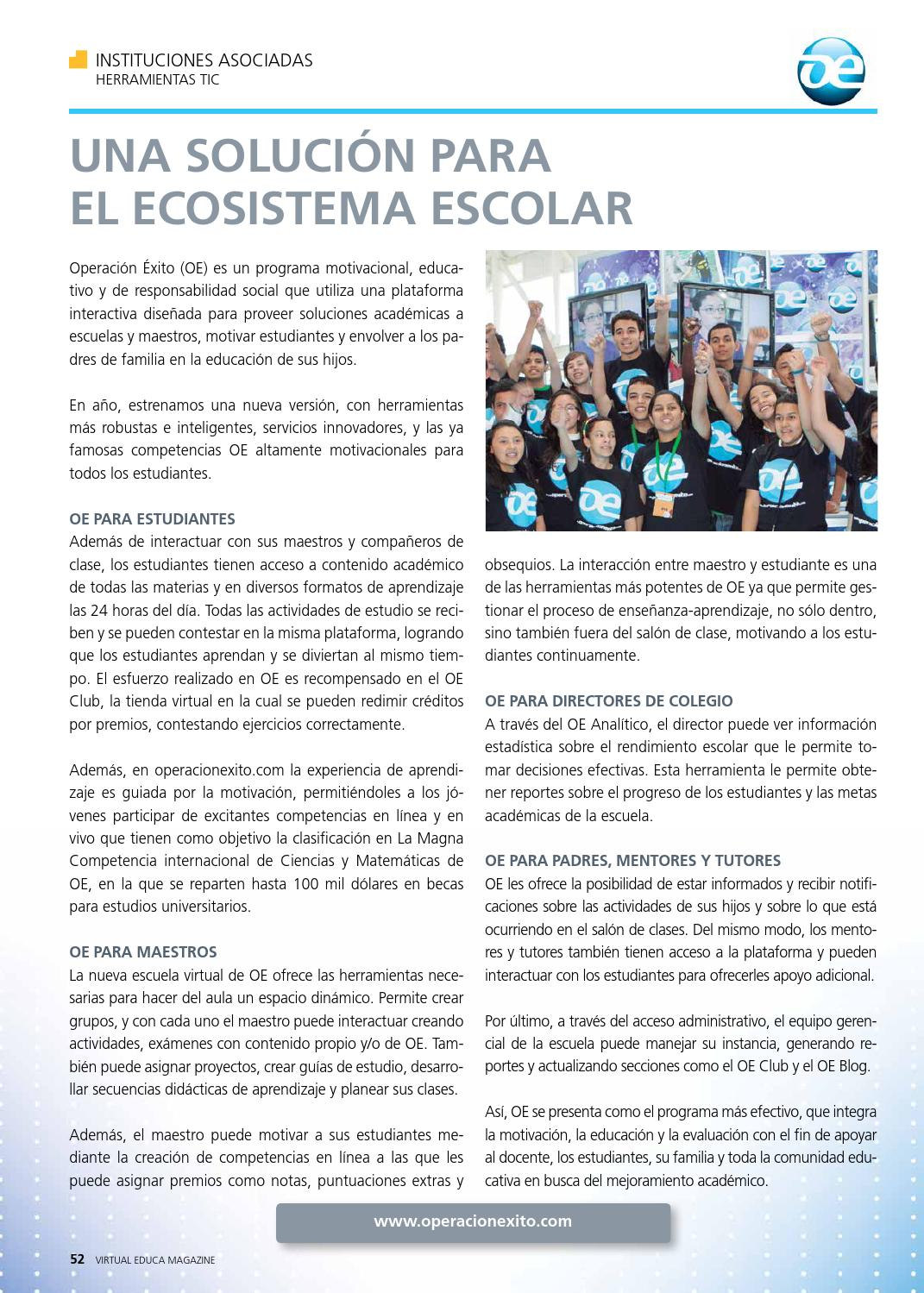 Magazine Virtual Educa N 14 I Semestre 2014 By Virtual