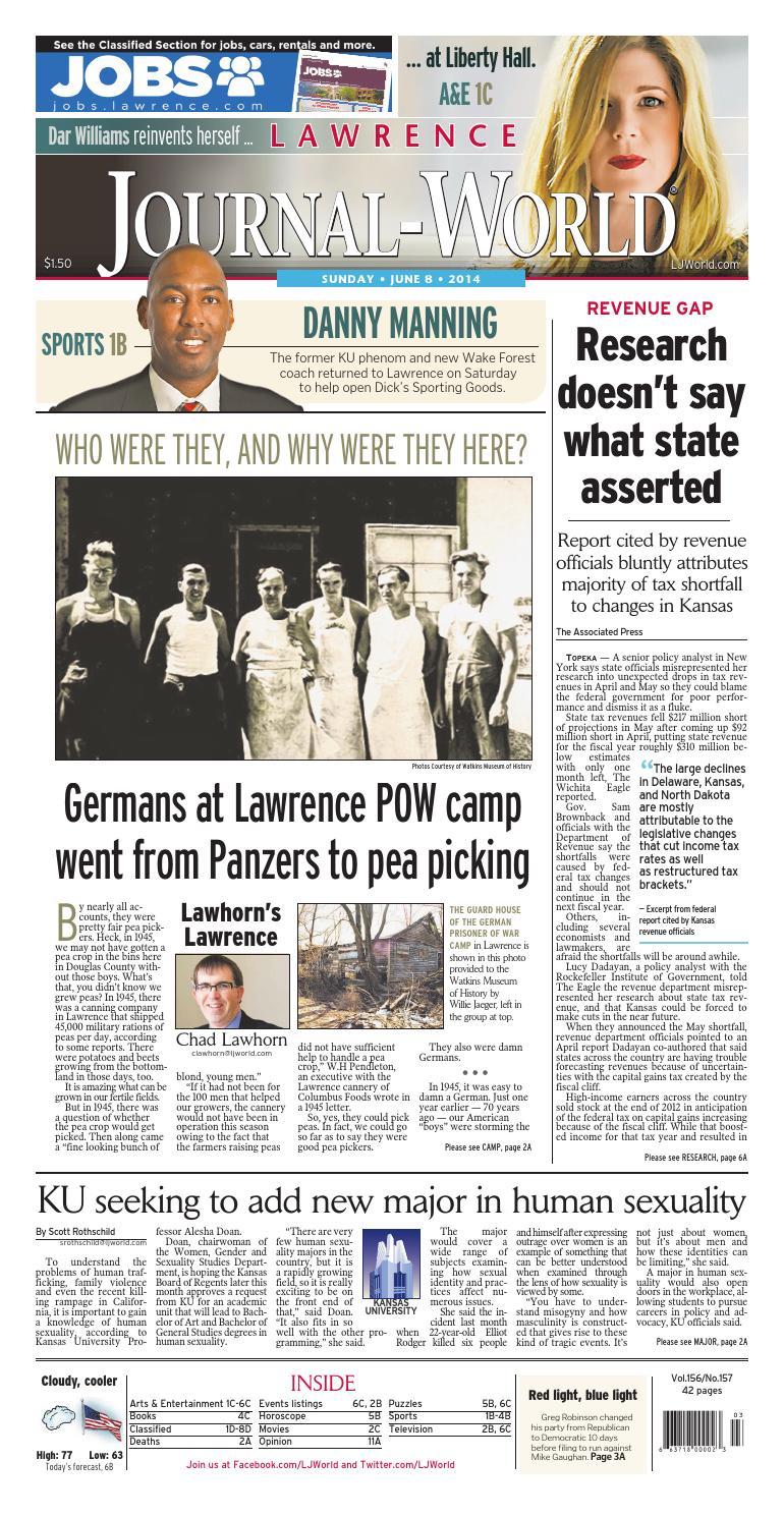 Lawrence Journal-World 06-08-14 by Lawrence Journal-World
