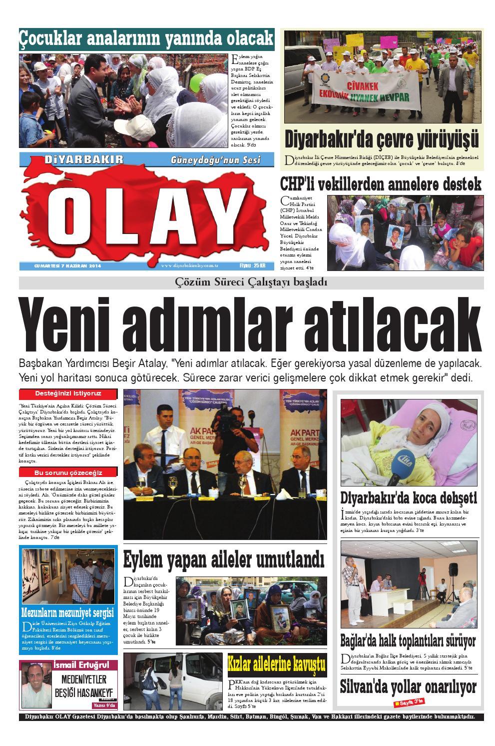 07 06 2014 Gazete Sayfalari By Diyarbakir Olaygazetesi Issuu