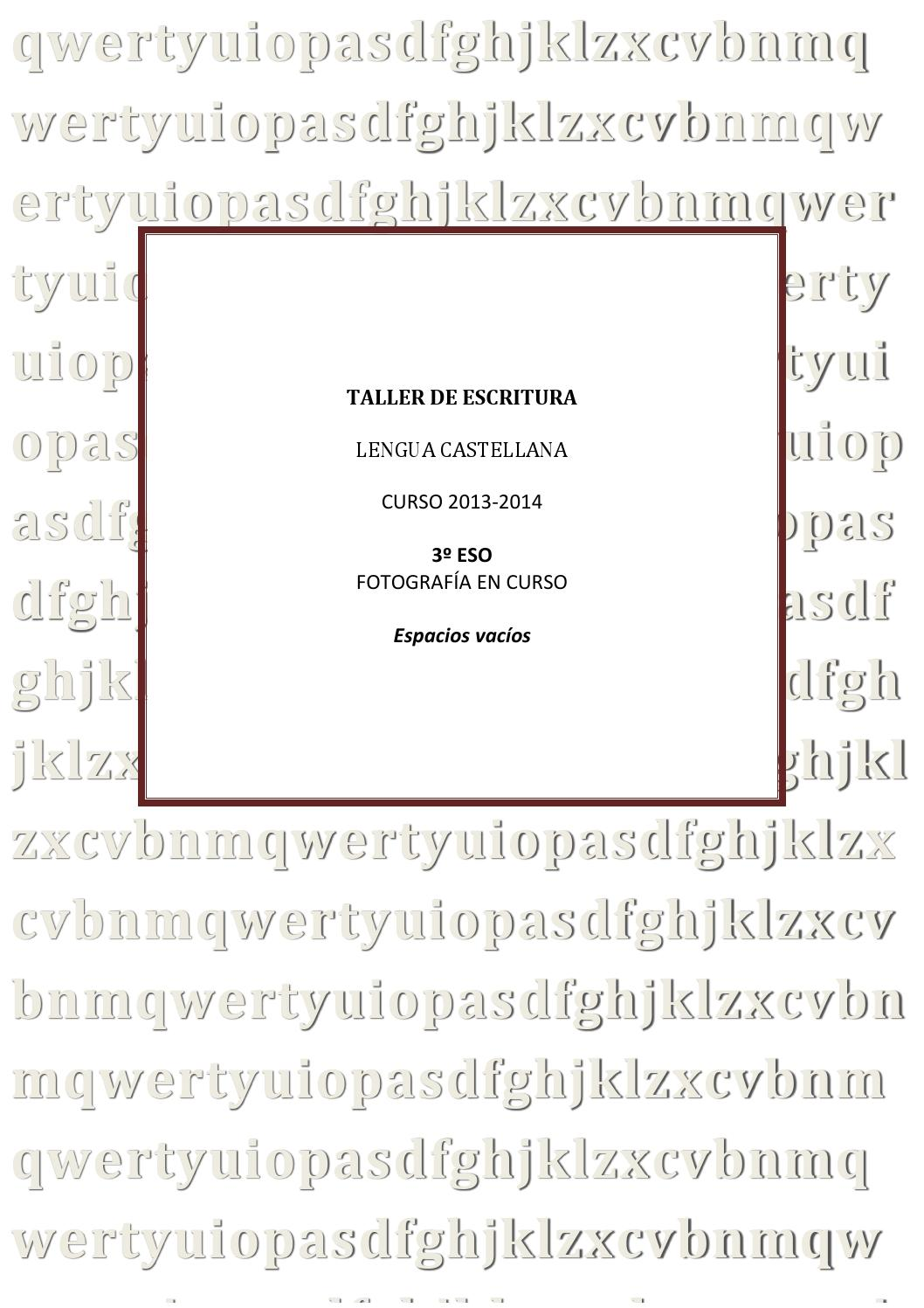 Taller de escritura de Lengua Castellana by Ana Luz - issuu