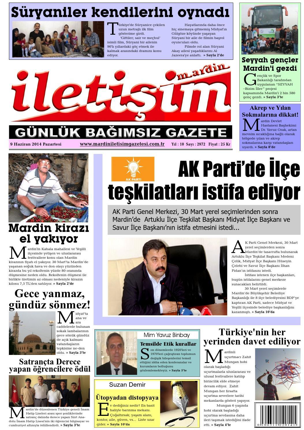 9 Haziran 2014 Pazartesi By Mardin Iletisim Gazetesi Issuu