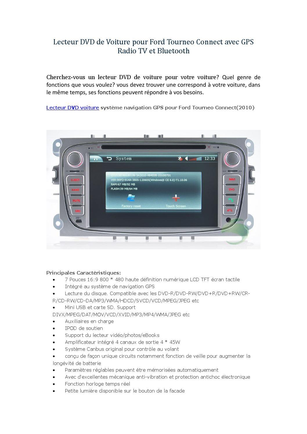 lecteur dvd de voiture pour ford tourneo connect avec gps radio tv et bluetooth by baaron290 issuu. Black Bedroom Furniture Sets. Home Design Ideas