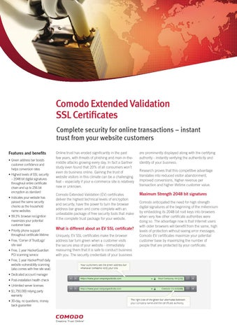 Overview about comodo ev ssl certificate by Mark Twain - issuu