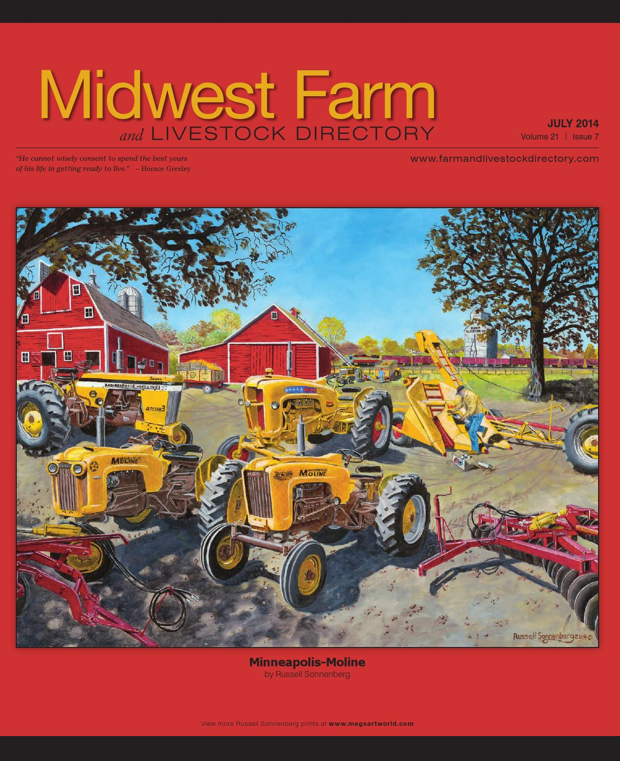 Midwest Farm And Livestock Directory July 2014 By Five Star Minneapolis Moline Tractor Wiring Diagrams Publishing Inc Issuu