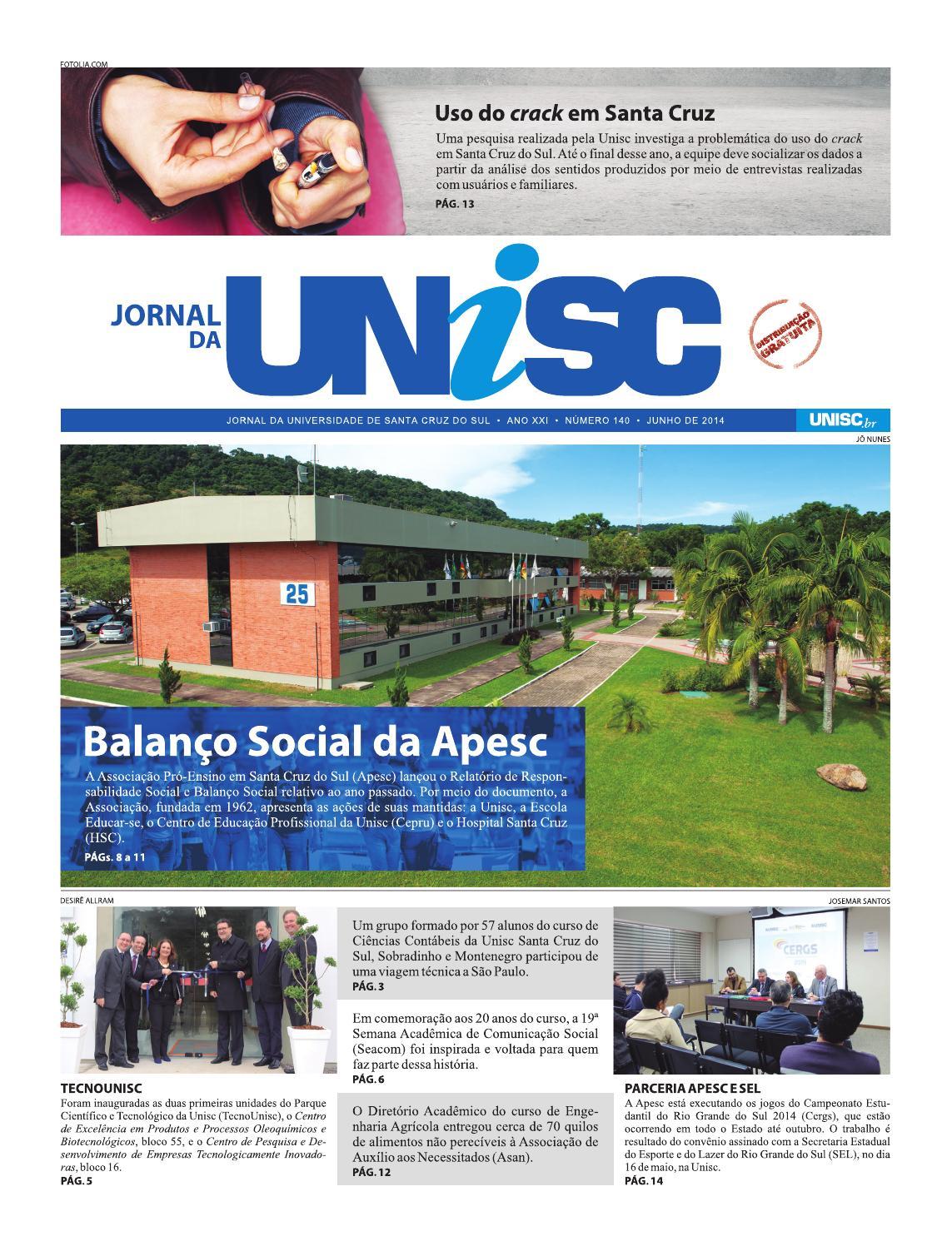 72c023207d Jornal da Unisc 140 by UNISC Santa Cruz do Sul - issuu