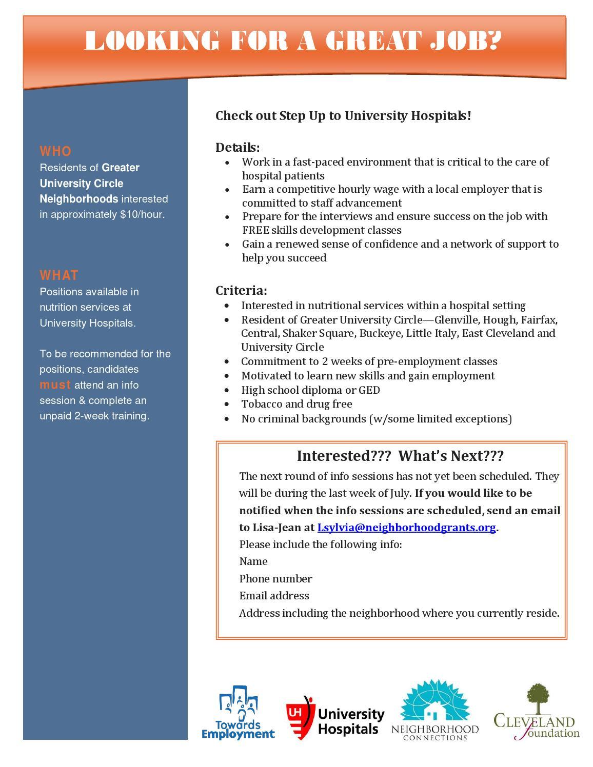 Step Up to University Hospitals Program