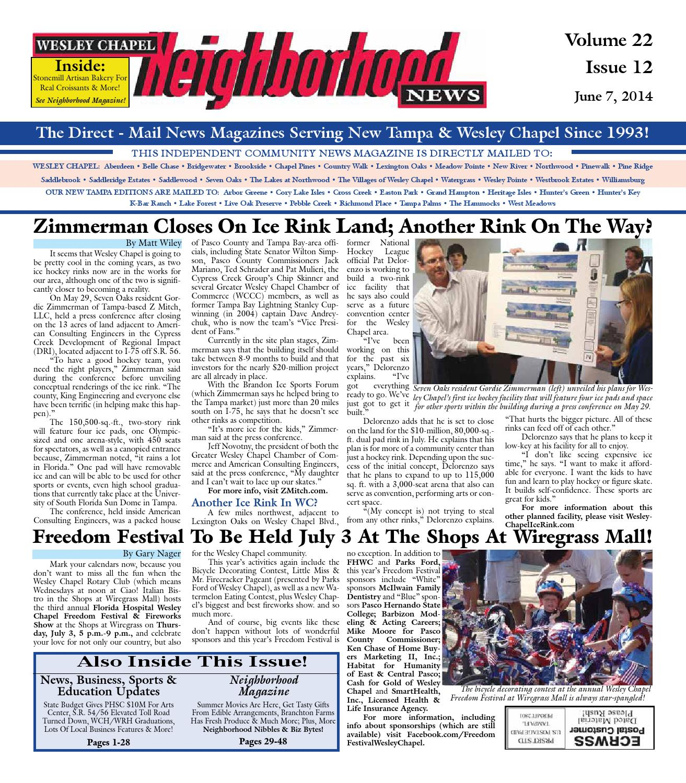 Wesley Chapel Neighborhood News Issue 12 June 7 2014 by