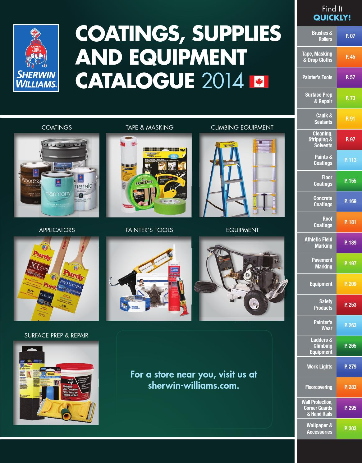 Canada Catalogue 2017 Coatings Supplies Equipment By Sherwin Williams Issuu