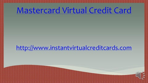 Mastercard virtual credit card by LloydBones34 - issuu