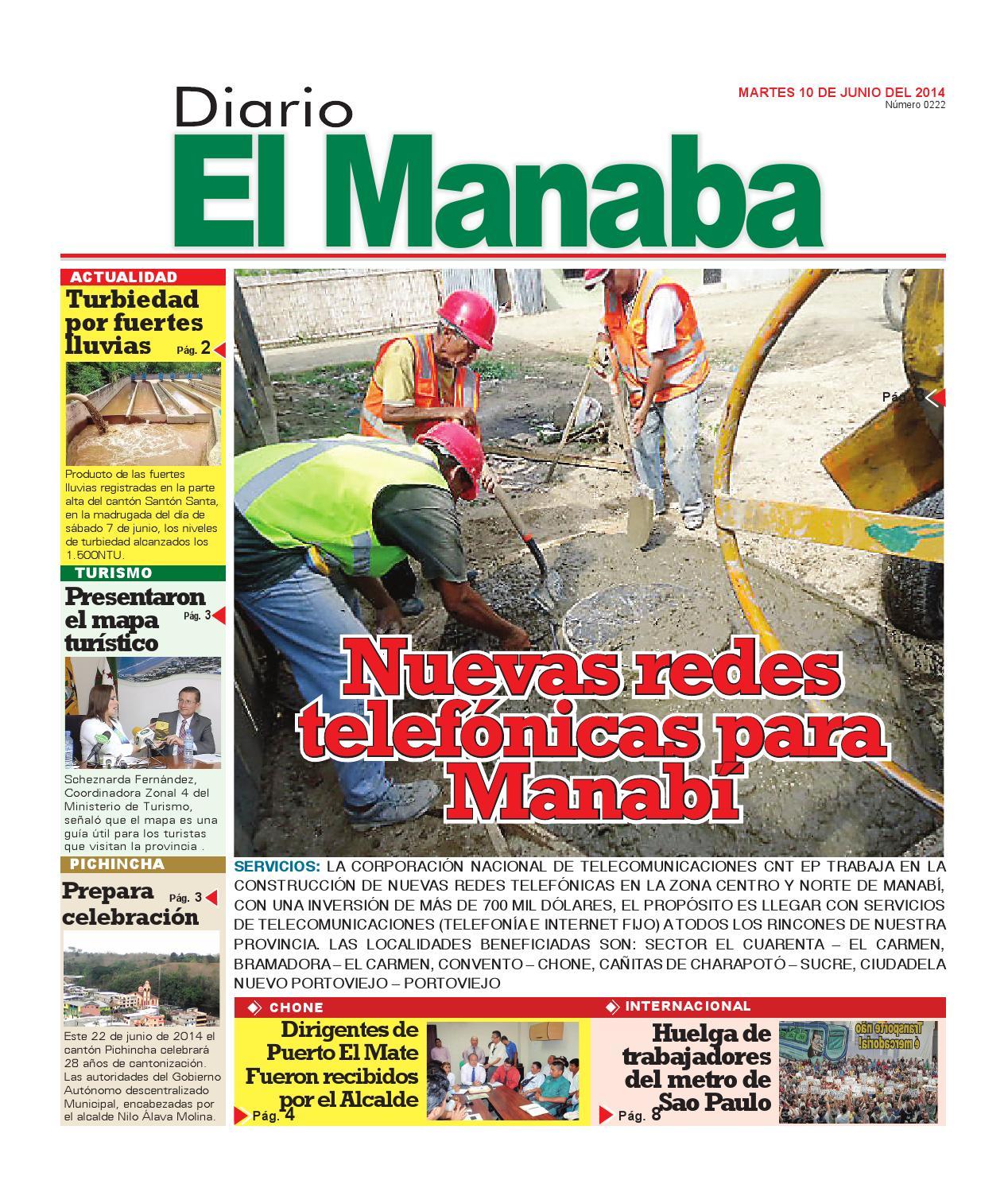 El manaba martes 10 de junio 2014 by elmanaba - issuu