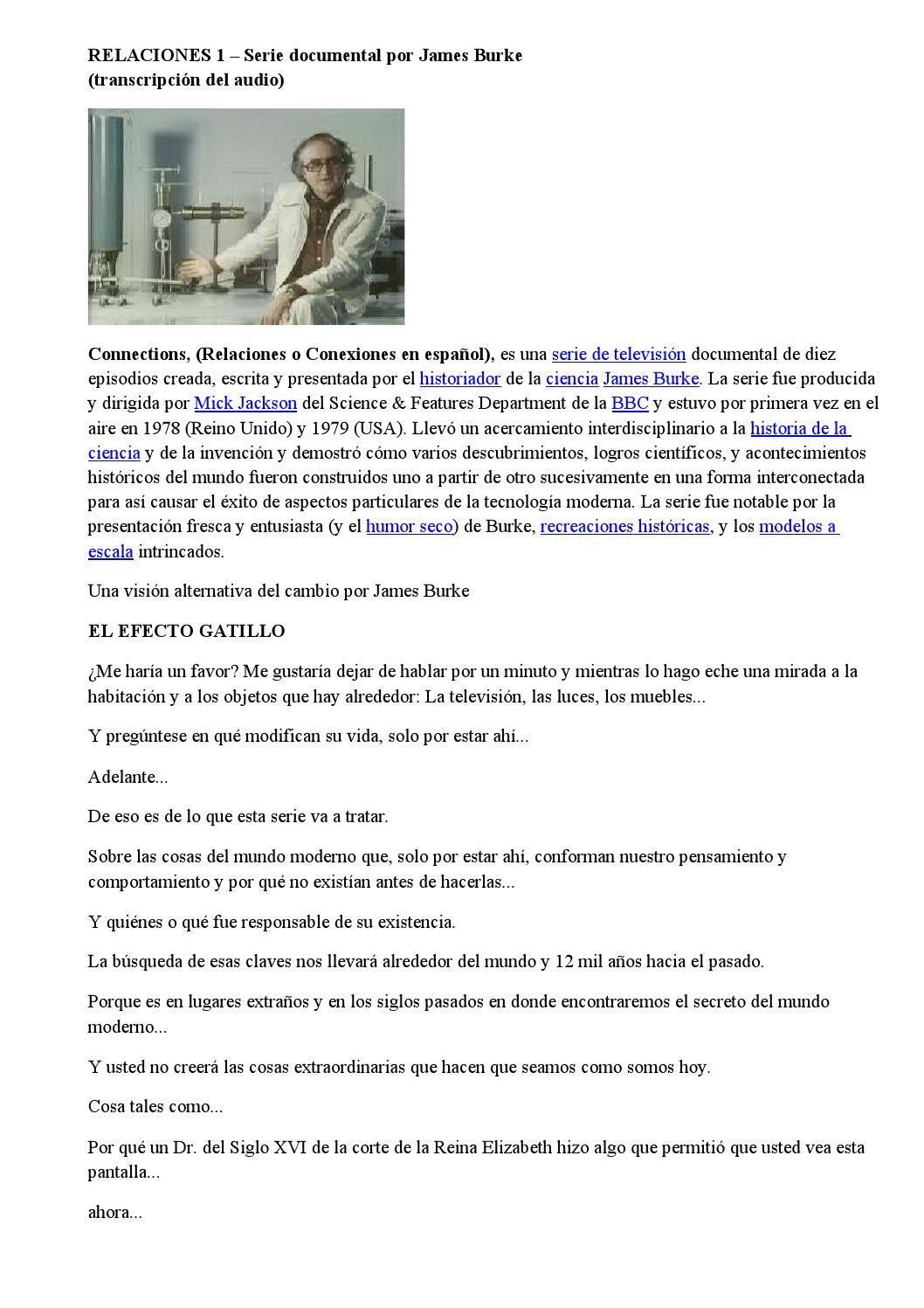 Relaciones 1 – serie documental por james burke by Jorge Arabito - issuu