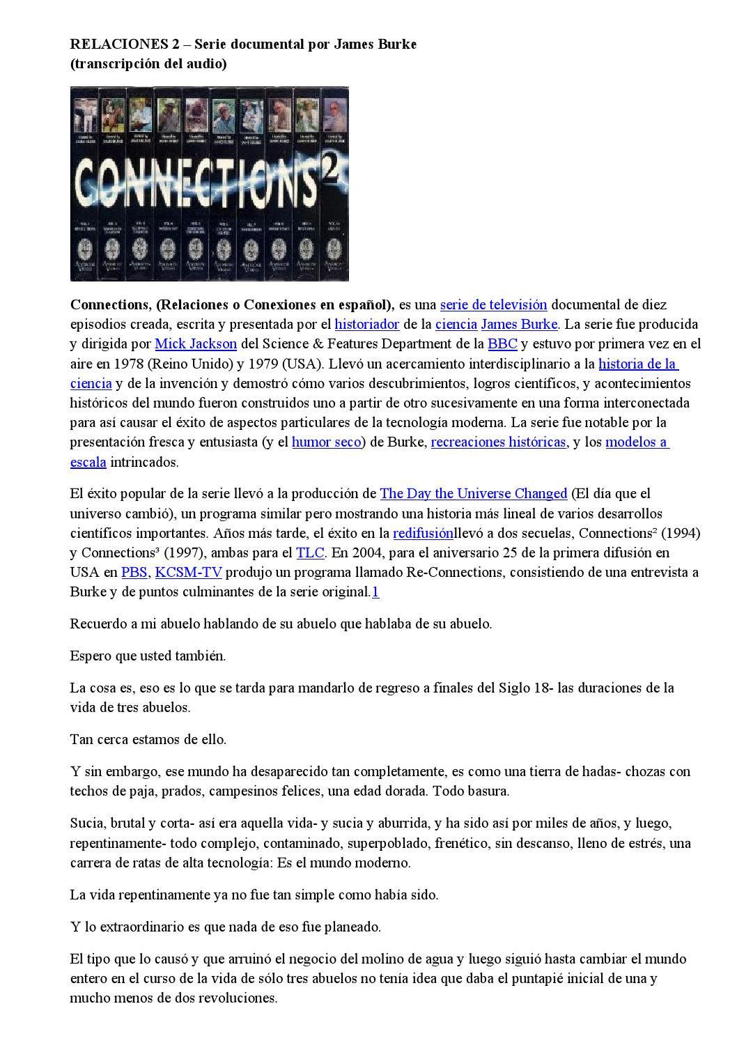 c7a4ab17f Relaciones 2 – serie documental por james burke by Jorge Arabito - issuu