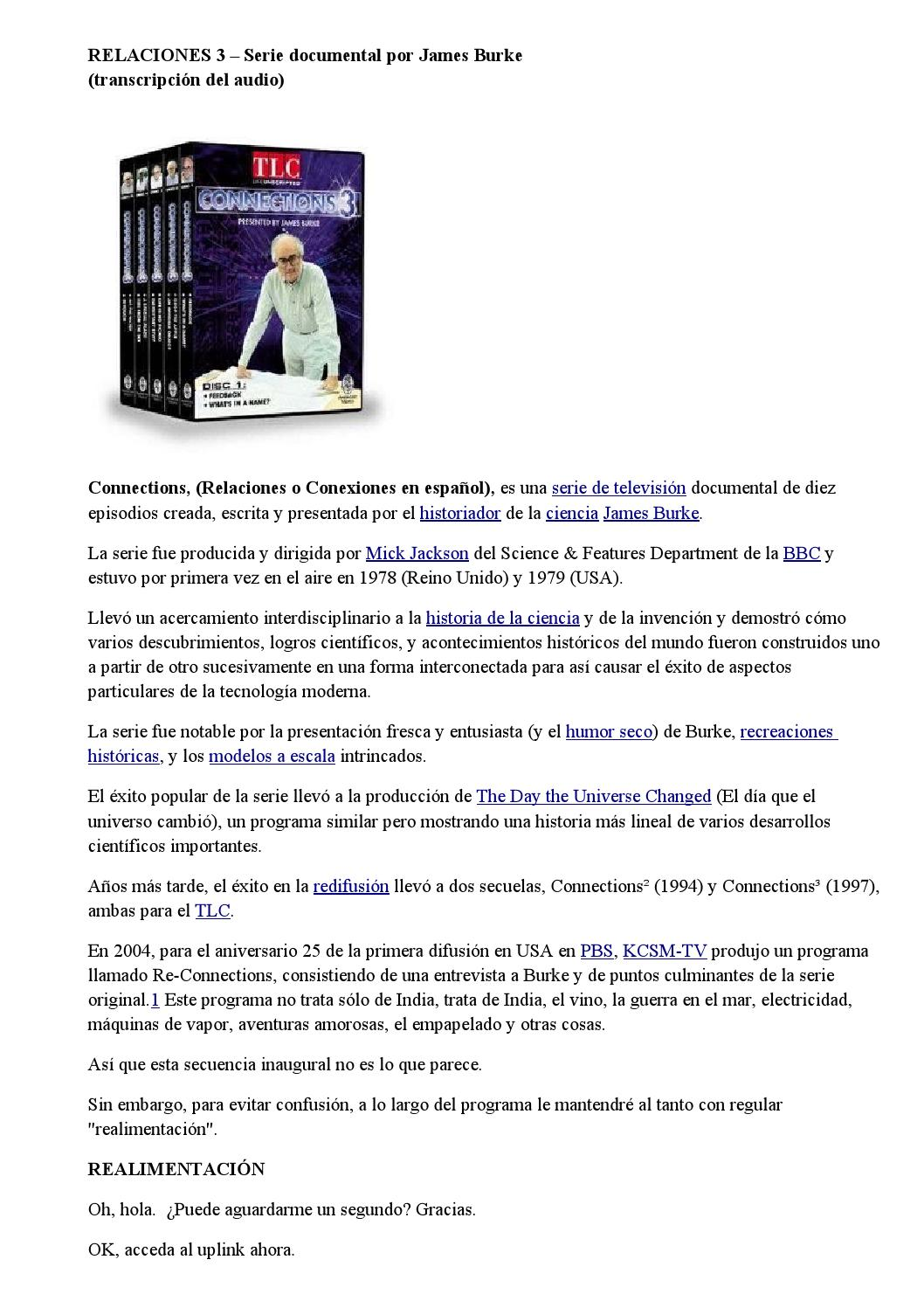 Relaciones 3 – serie documental por james burke by Jorge Arabito - issuu