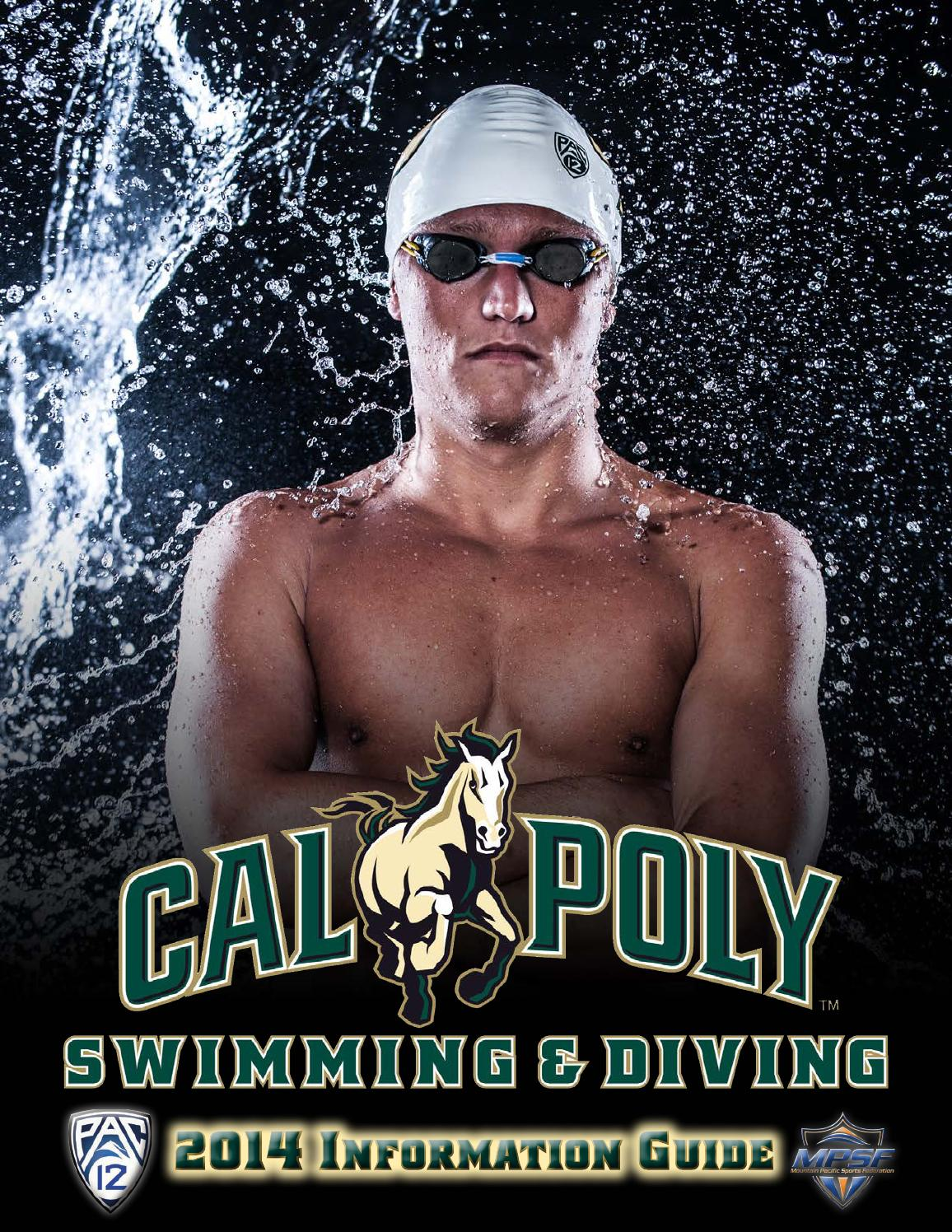 2014 cal poly swimming and diving information guide by cal poly