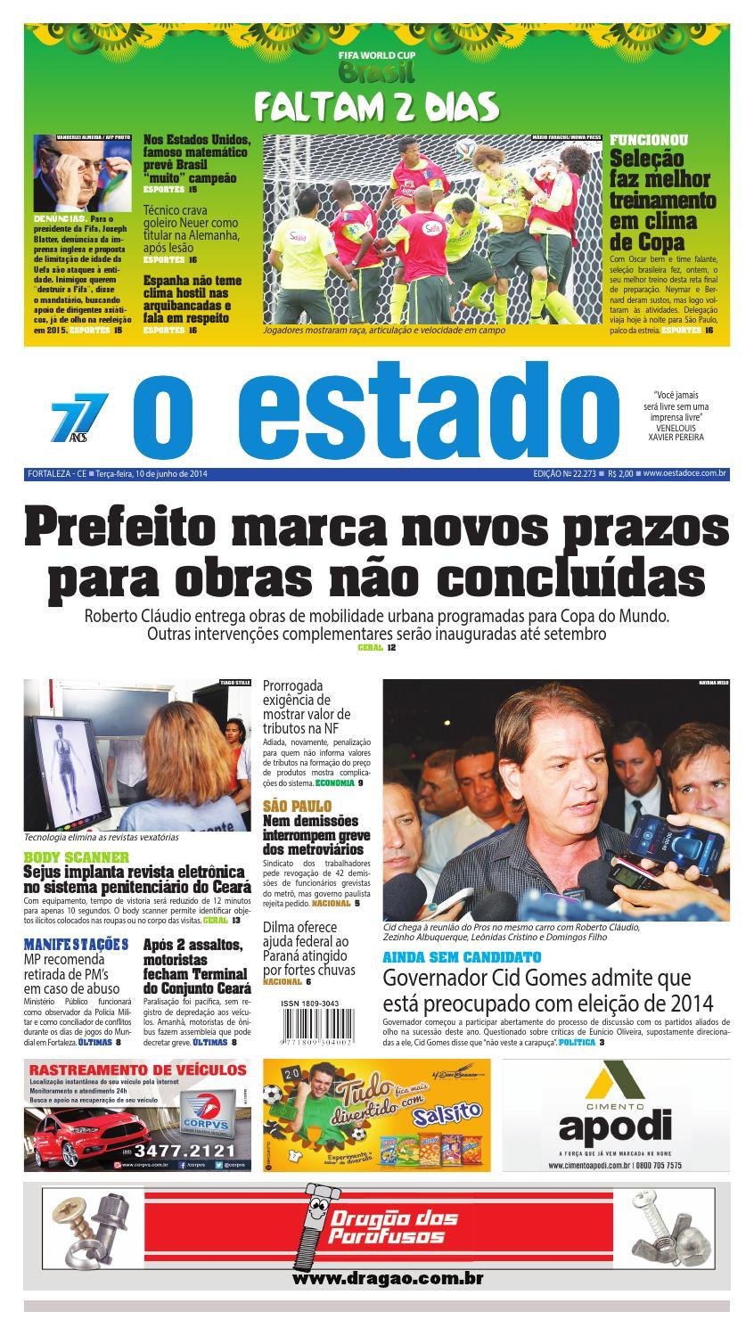 Edição 22273 - 10 de junho de 2014 by Jornal O Estado (Ceará) - issuu 54fff41501b97