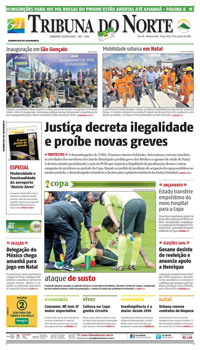 95a224917f Tribuna do Norte - 10 06 2014 by Empresa Jornalística Tribuna do Norte Ltda  - issuu