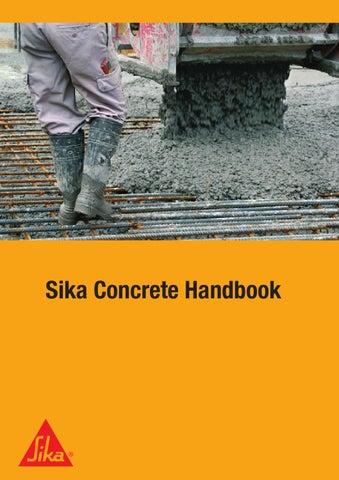 Sika Concrete Handbook By Sika Ag Issuu