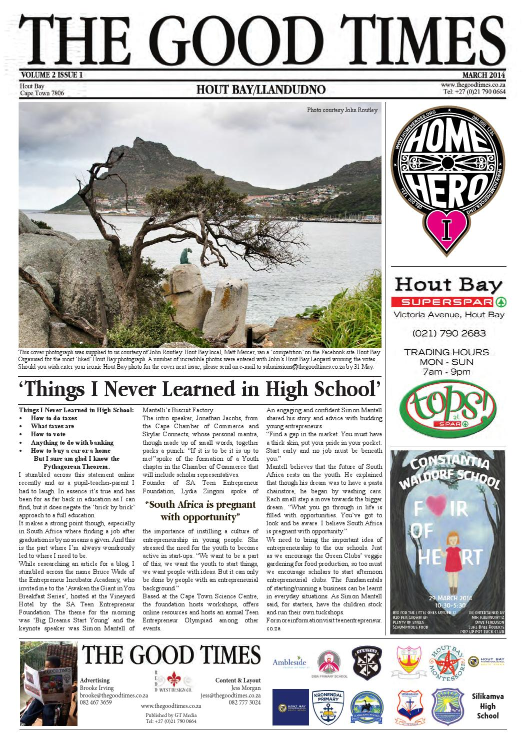 The good times school newspaper hout bay march 2014 by the good the good times school newspaper hout bay march 2014 by the good times school newspaper issuu fandeluxe Gallery