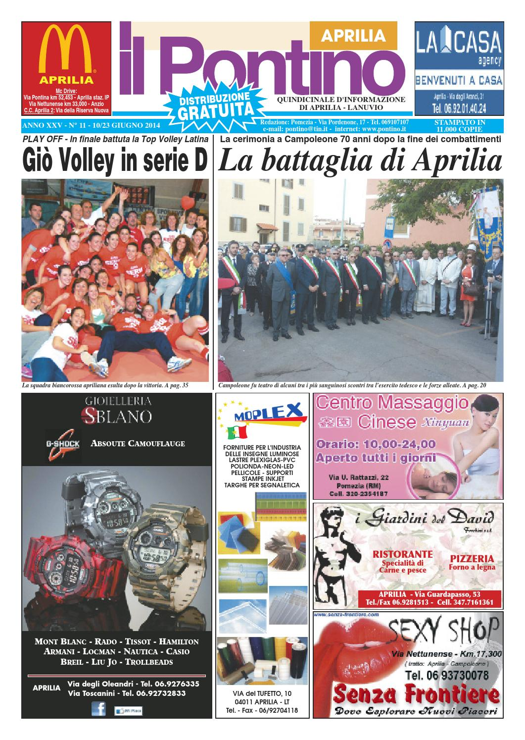 b15f78f0ab Il Pontino Aprilia n. 11 - 10/23 Giugno 2014 by Il Pontino/Il Litorale -  issuu