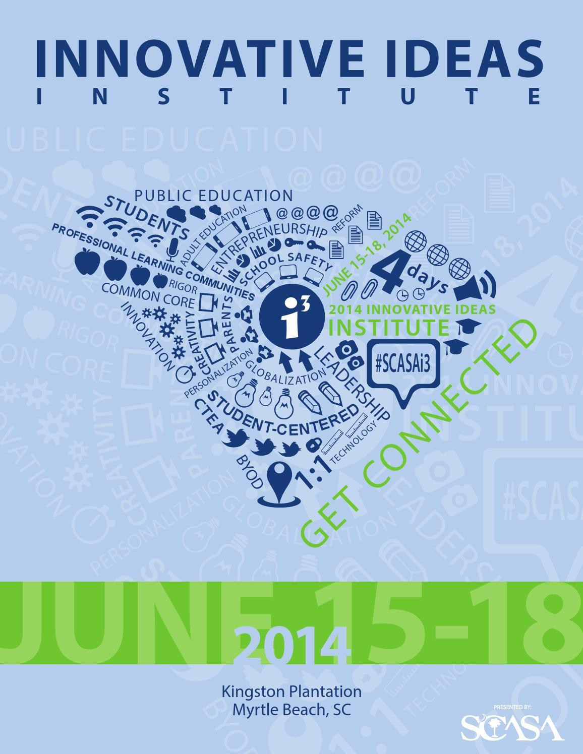 2014 Innovative Ideas Institute Program by Hannah Hopkins - issuu