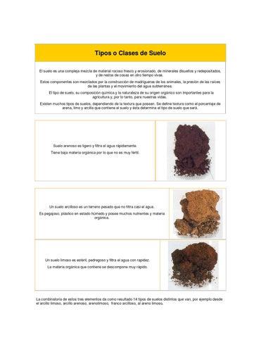 2 tipos o clases de suelo by evelyn gonzalez issuu - Clases de suelo ...