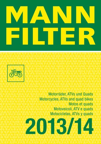 Catalogo Filtri MANN FILTER By Accossato Group