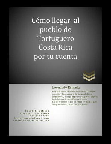 Cómo Llegar Al Pueblo De Tortuguero Costa Rica Por Tu Cuenta By Lestradaf Issuu