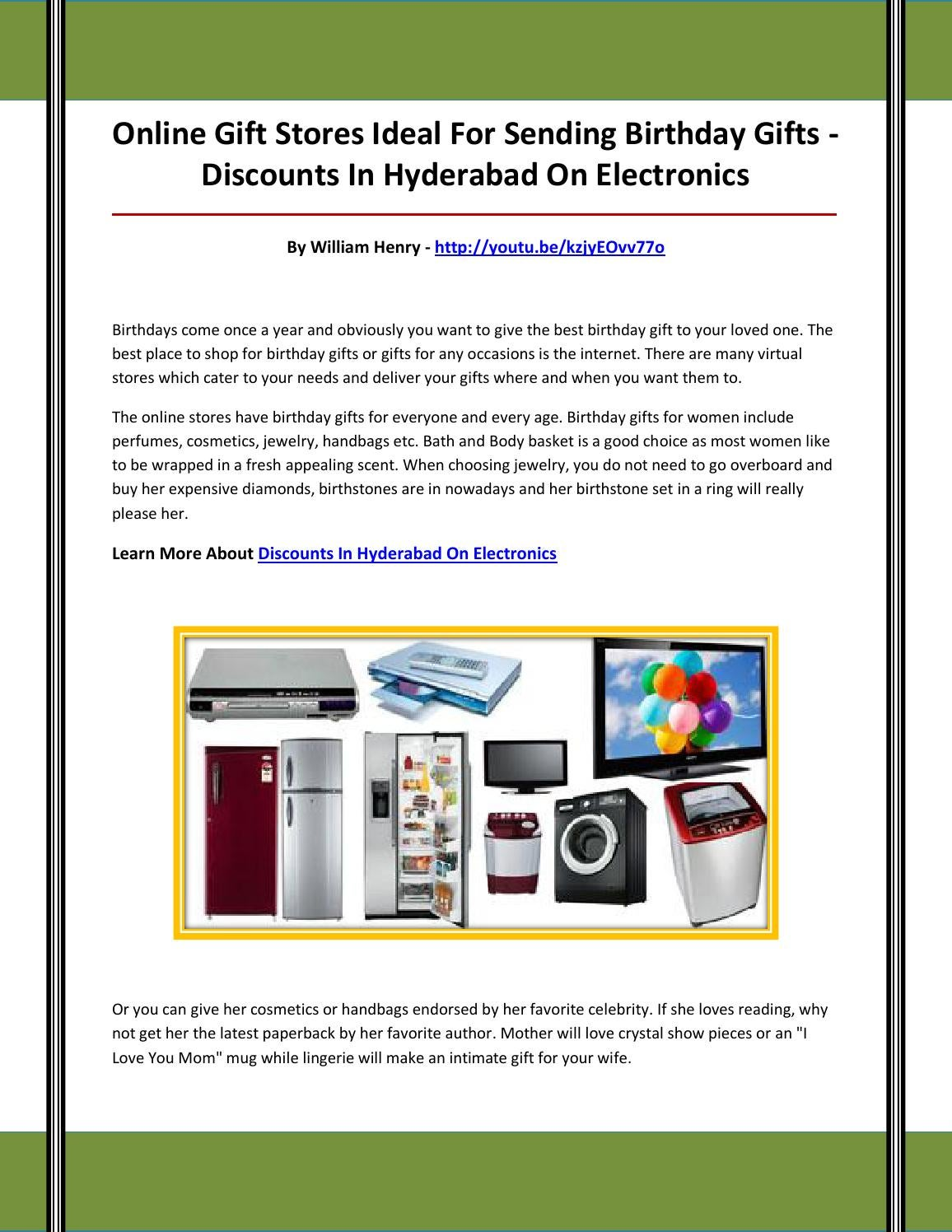 Discounts In Hyderabad On Electronics