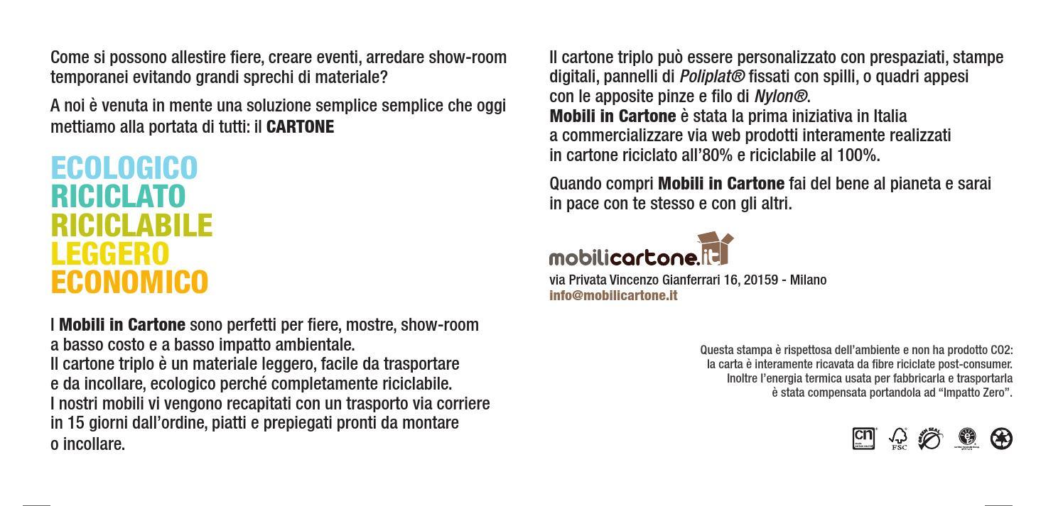 Mobili A Basso Prezzo Milano.Brochure Mobili In Cartone 2014 By Michelerigoni Issuu