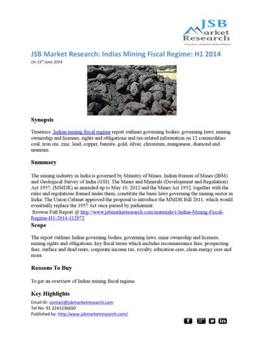 jsb market research indias mining fiscal New video april 25, 2017: their shit is back on as they are probably upset i went to the fbi indywatch feed national.