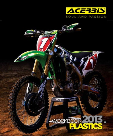 UFO Plastics Enduro Rear Fender Green for Kawasaki KLX 450R 07-09