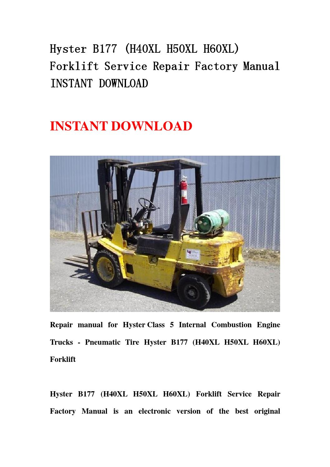 Hyster H50xl Parts manual