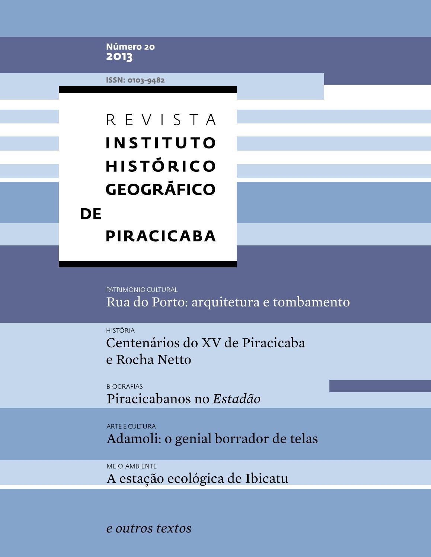 dab2a544b Edição da Revista do IHGP by Instituto Histórico e Gográfico de Piracicaba  - issuu