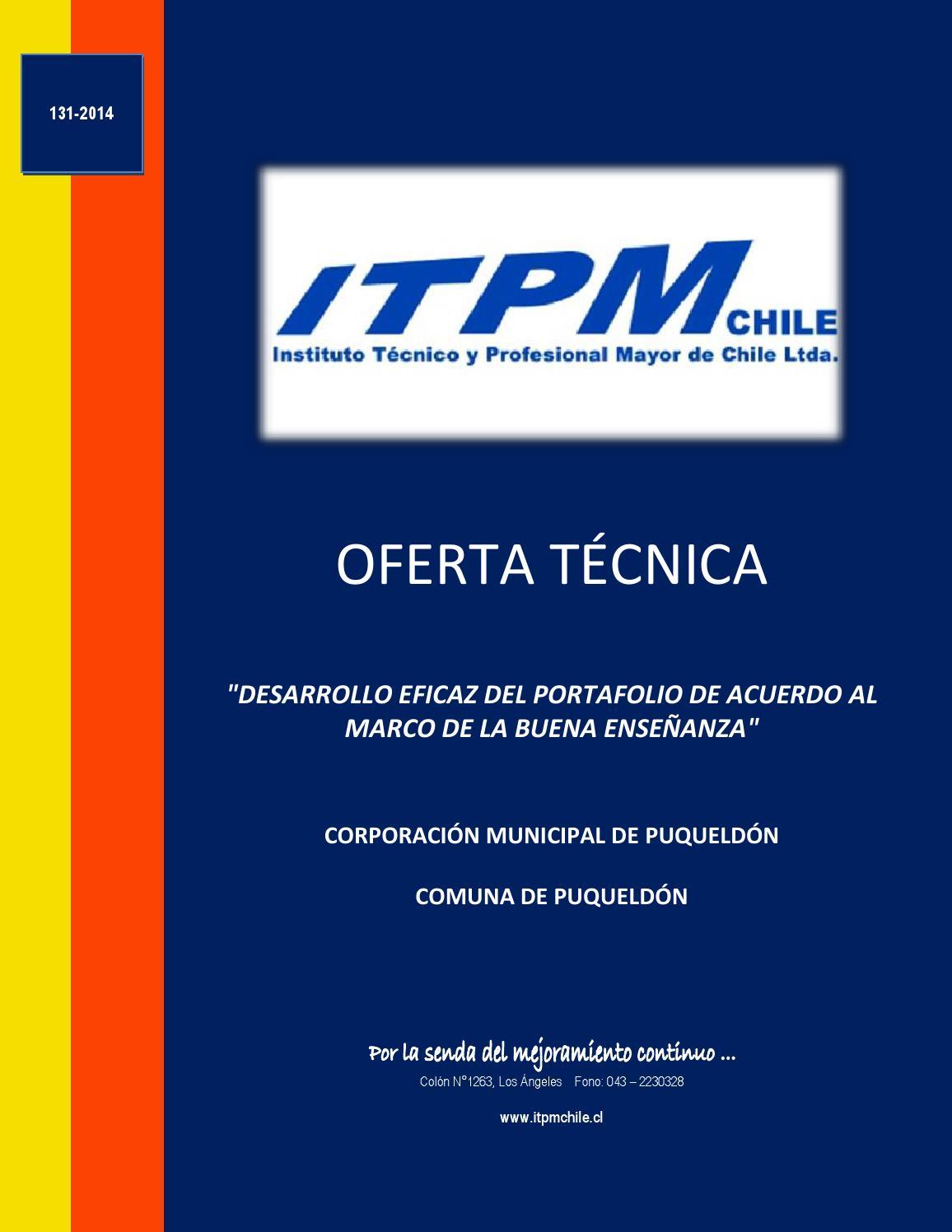 Ot 131 portafolio puqueldón by Claudio Andres Fierro Lorca - issuu